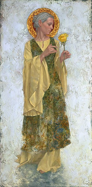 James Christensen The Yellow Rose Canvas