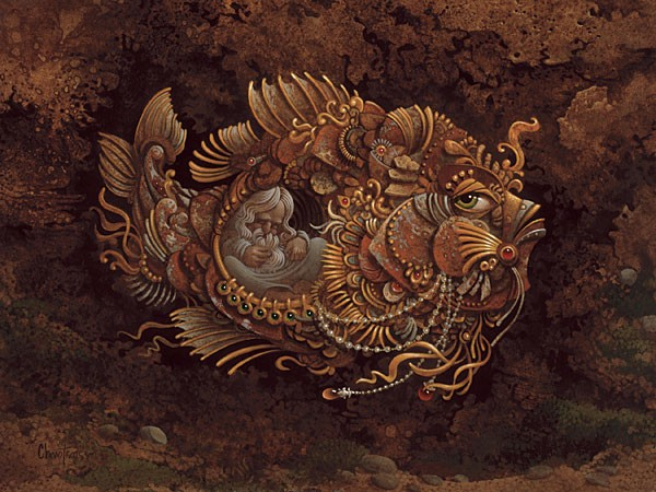 James Christensen Jonah ANNIVERSARY EDITION ON Canvas