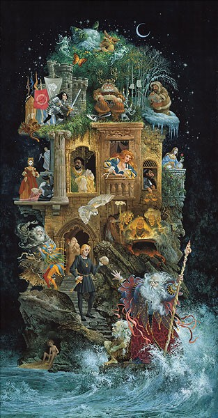 James Christensen Shakespearean Fantasy Canvas
