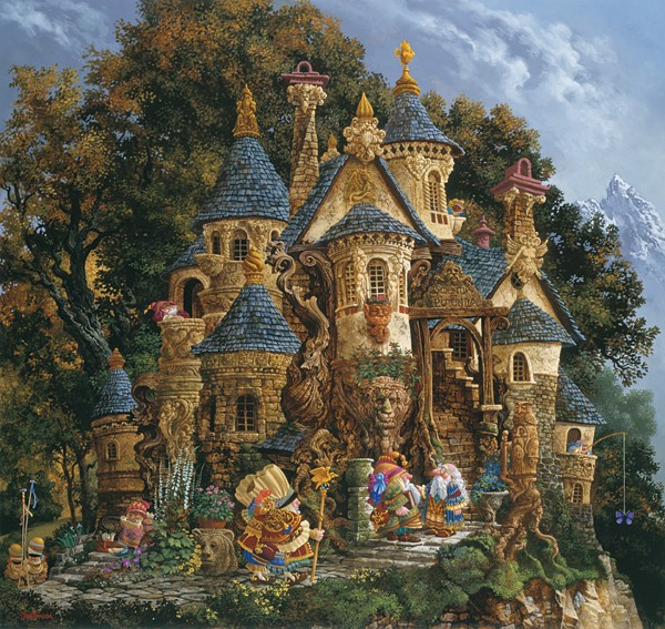 James Christensen College of Magical Knowledge ANNIVERSARY EDITION ON Canvas