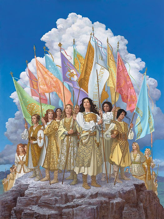 James Christensen Arise and Shine Forth OPEN EDITION Canvas
