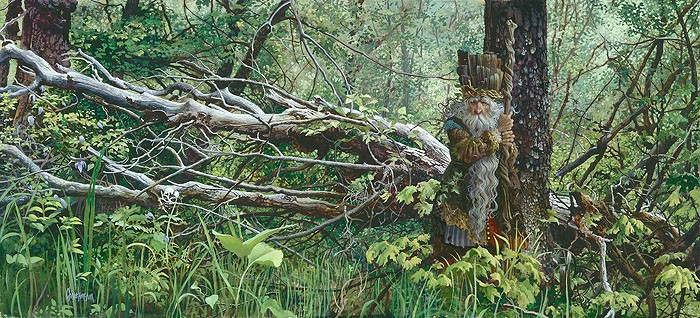 James Christensen Guardian in the Woods Canvas