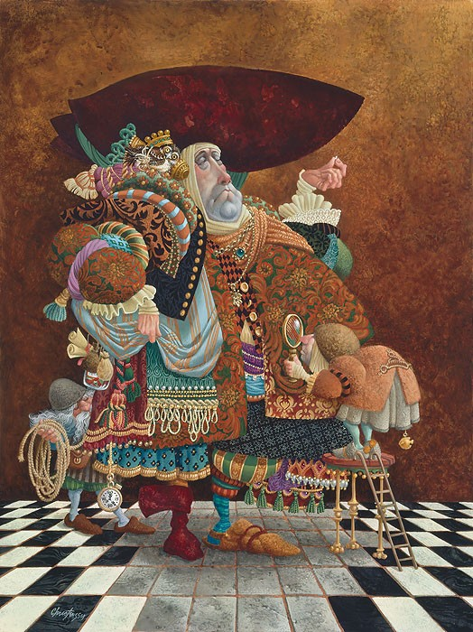 James Christensen A Lawyer More than Adequately Attired in Fine Print ANNIVERSARY EDITION ON Canvas
