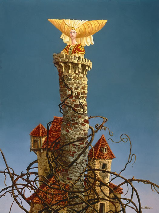 James Christensen Princess in the Tower Canvas