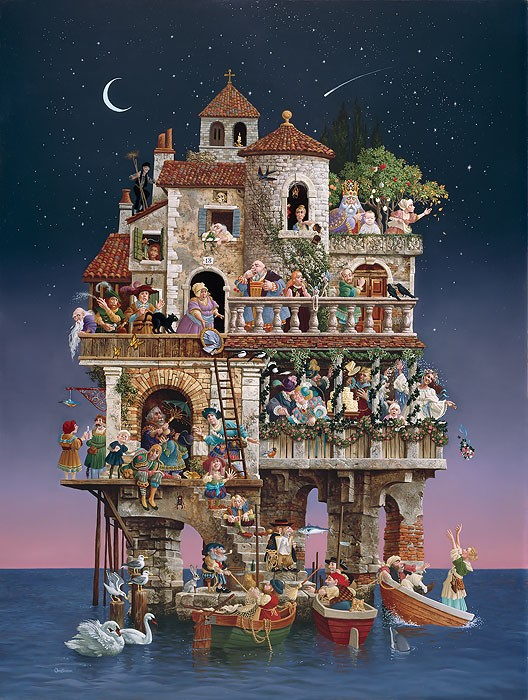 James Christensen Superstitions MASTERWORK ANNIVERSARY EDITION Canvas