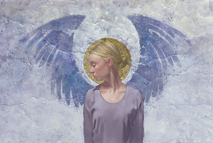 James Christensen Angel Unaware ANNIVERSARY EDITION ON Canvas