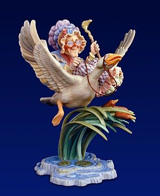 James Christensen Mother Goose Porcelain Figurine