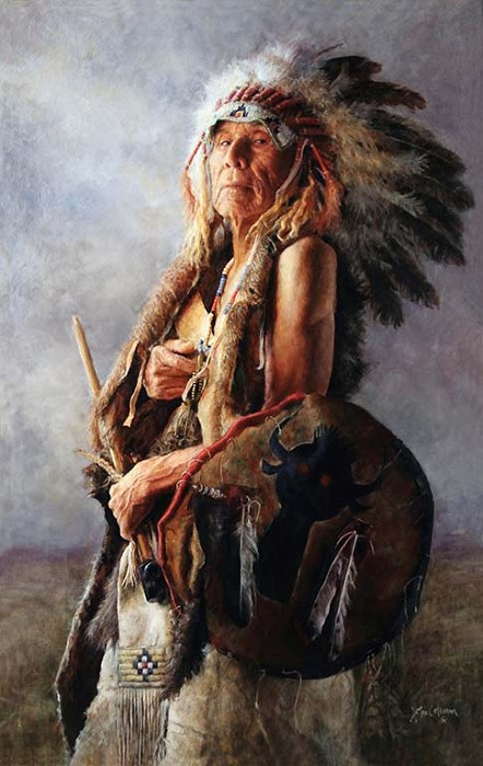 John Coleman Monarch of the Buffalo Nation Giclee On Canvas Artist Proof