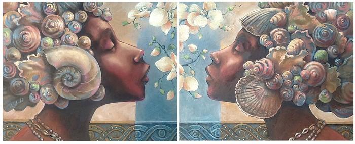 John HolyfieldEBONY GODDESSES SETGiclee On Canvas