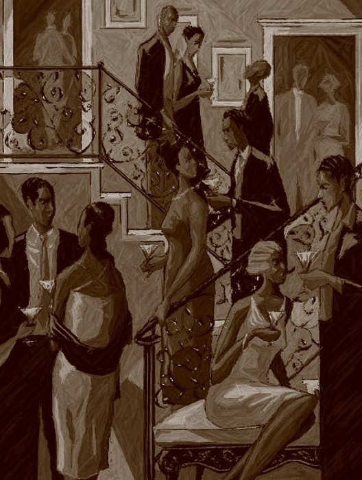 John Holyfield SOCIALITES SEPIA EDITION  Giclee On Paper