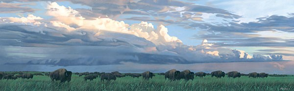 Joshua Spies Prairie Thunder MUSEUM EDITION ON Canvas