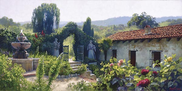June Carey MISSION GATE Limited Edition Print