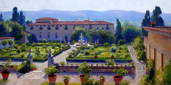 June Carey Villa di Castello Canvas