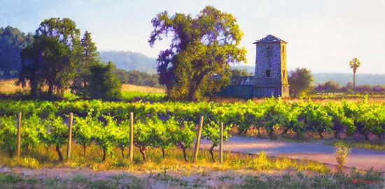 June Carey Vineyard Tankhouse MASTERWORK EDITION ON Canvas