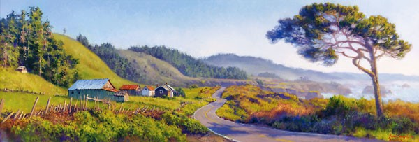 June Carey Pacific Coast Highway MASTERWORK EDITION ON Canvas
