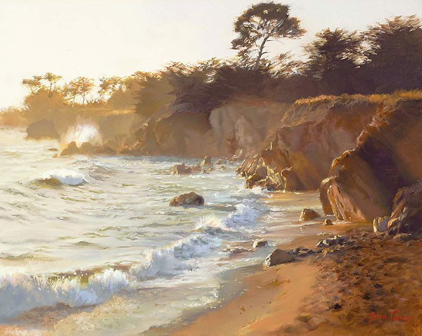June Carey Sundown at Sea Ranch Canvas