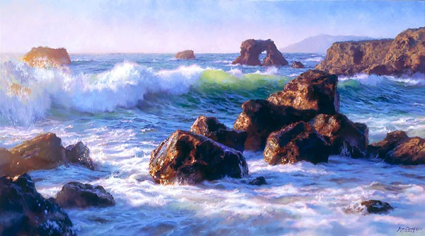 June Carey Sonoma Surf MASTERWORK EDITION ON Canvas