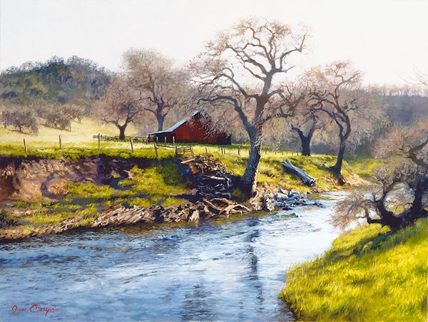 June Carey Early Spring at Stony Creek Canvas