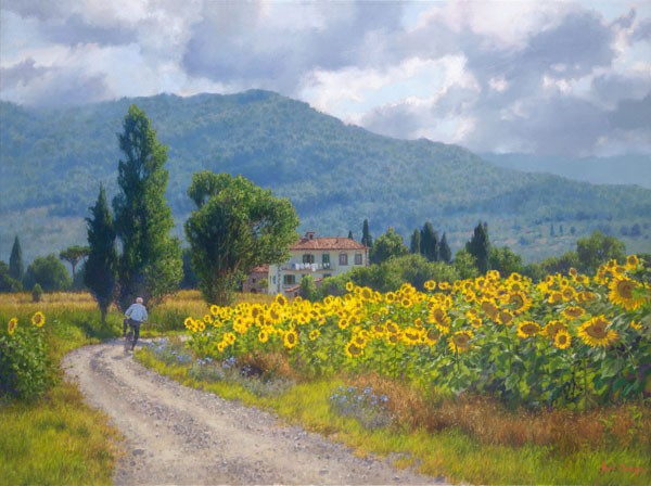 June Carey My Girasoli Limited Edition Print