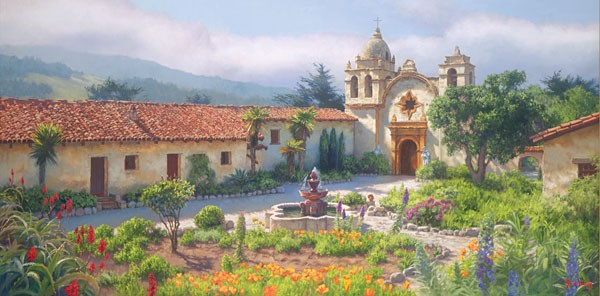 June CareyLittle Old Mission by the Sea Circa 1940Canvas