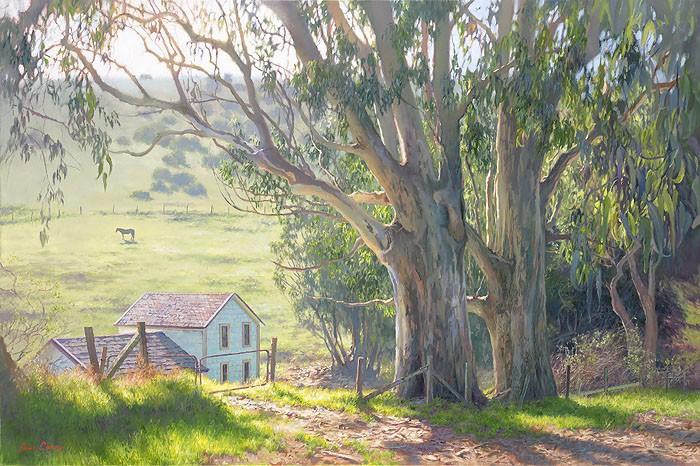 June Carey Basking Eucalyptus Canvas
