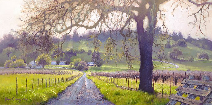 June Carey Early Spring Sonoma Valley Canvas