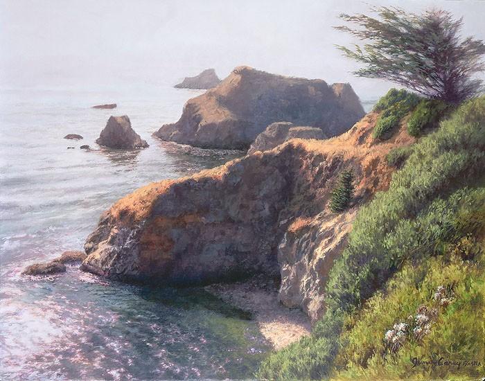 June CareyLifting FogGiclee On Canvas