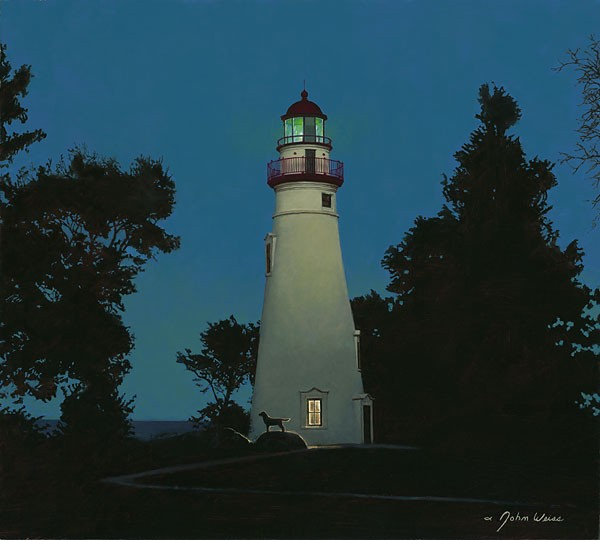 John Weiss The Lighthouse Keeper Canvas
