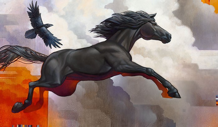 Craig Kosak Pegasus - Leap of Faith MASTERWORK EDITION ON Canvas