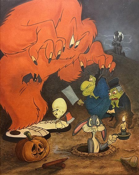 Mike Kupka The Monsters are Hare! Giclee On Canvas
