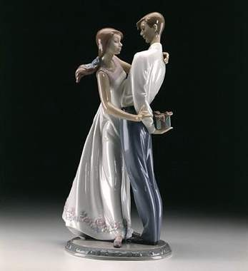 Lladro Love's Little Surprises Porcelain Figurine
