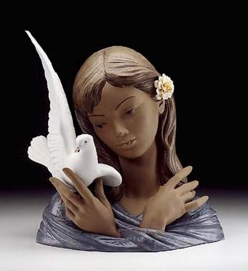 LladroThoughts Of PeacePorcelain Figurine