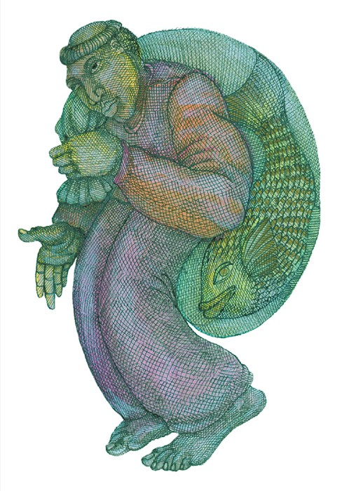 Charles Bibbs Fishman Hand Enhanced -  Giclee