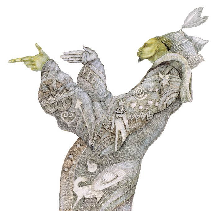 Charles BibbsThe Mystic Holyman - Hand Enhanced Giclee