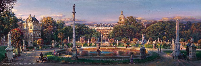Cao Yong The Luxembourg Garden Artist Proof Giclee On Canvas Artist Proof The Paris Series