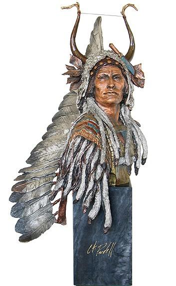Christopher PardellEsteemed Warrior - Chief Mato-to'peBronze Sculpture