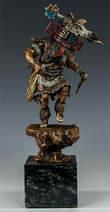 Christopher Pardell Hilili - Kachina Bronze Sculpture