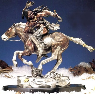 Christopher Pardell Pursued - Chief Crazy Horse Bronze Sculpture
