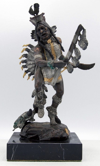 Christopher Pardell Songs Of Glory - Chief Sitting Bull Bronze Sculpture