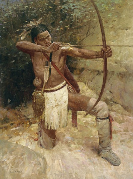 Z.S.  Liang Woodland Warrior Giclee On Canvas