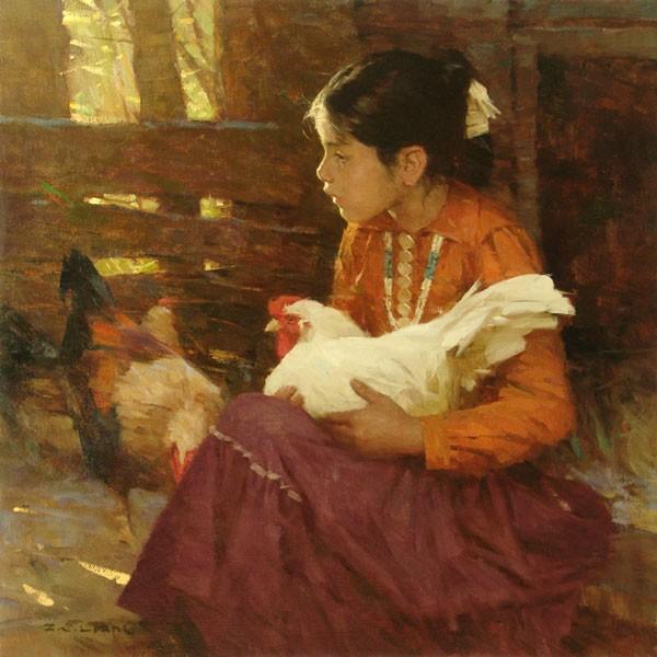 Z.S.  LiangNavajo Girl SMALLWORK EDITION ONCanvas