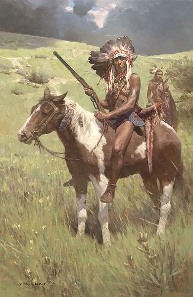 Z.S.  LiangLittle Big Horn June 25 1876Canvas