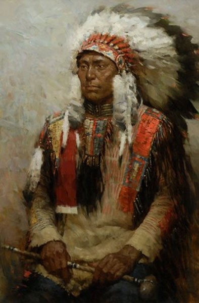 Z.S.  Liang Lakota Warrior SMALLWORK EDITION ON Canvas