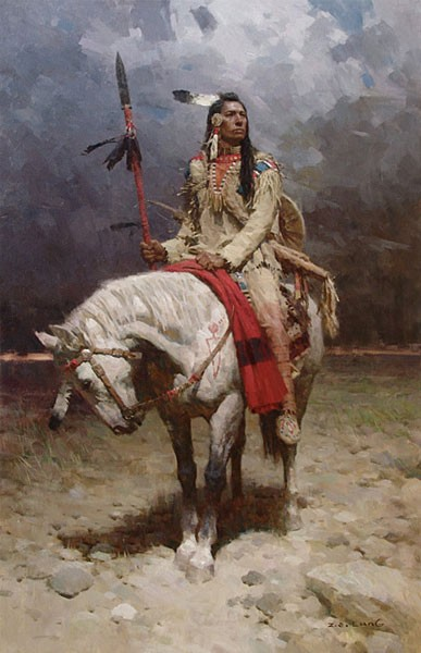 Z.S.  Liang Pride of the Piegan Giclee On Canvas