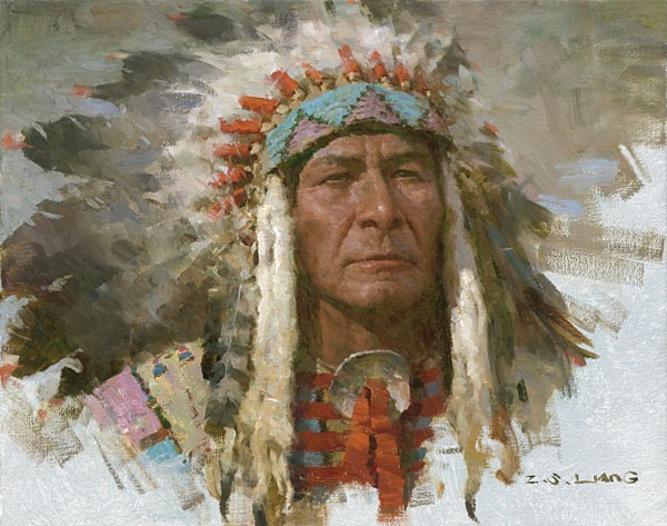 Z.S.  Liang Leader of the Tribe SMALLWORK EDITION ON Canvas