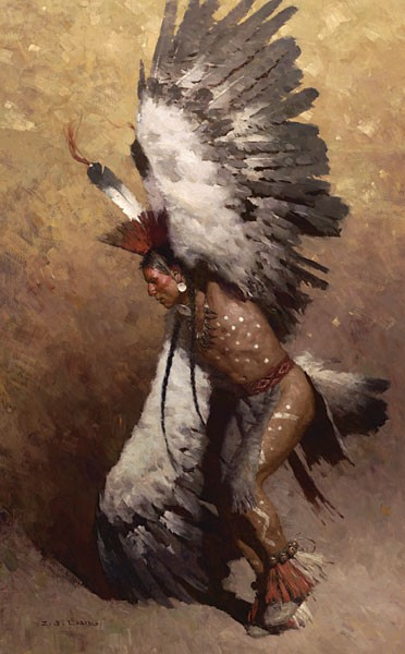 Z.S.  Liang Eagle Dancer Potawatomi MASTERWORK EDITION ON Canvas