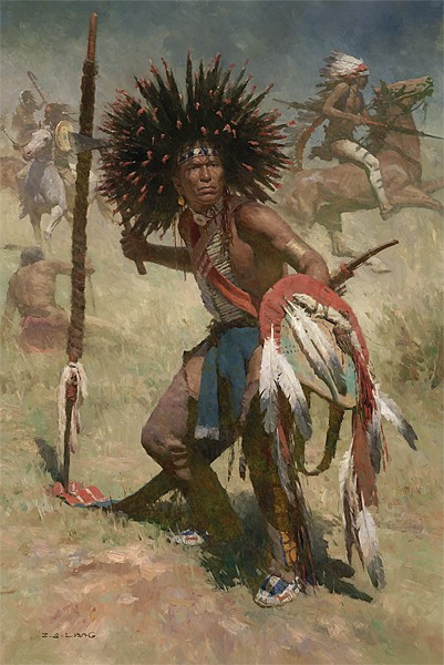 Z.S.  Liang Lakota Sash Bearer 1848 MASTERWORK EDITION ON Canvas