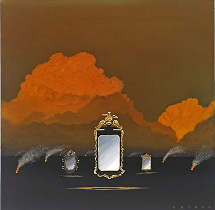 Robert Deyber Smoke And Mirrors hand-crafted stone lithograph