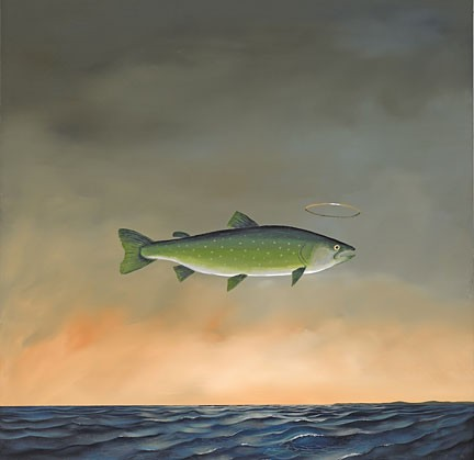 Robert Deyber Holy Mackerel hand-crafted stone lithograph