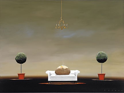 Robert DeyberThe Couch Potatohand-crafted stone lithograph